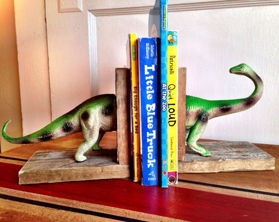 dinosaur bedroom book ends