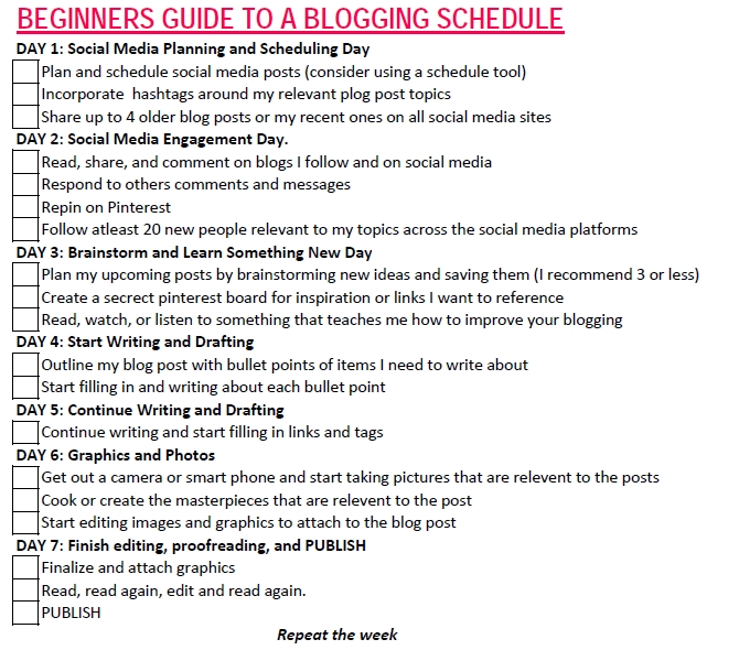 Beginners Guide to a Blogging Schedule image