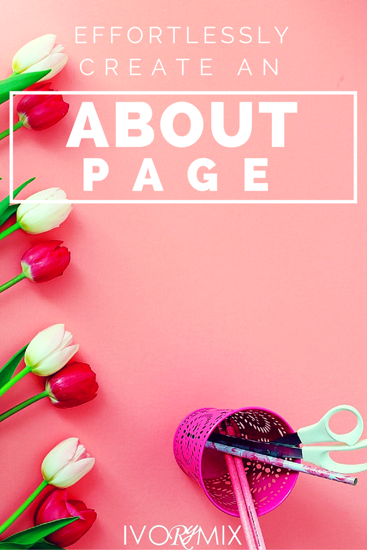 Effortlessly create your about page for your blog