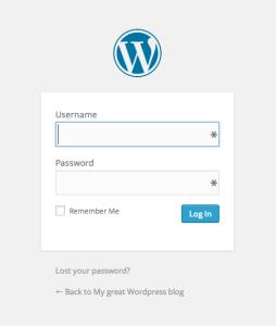 Start a blog - Login