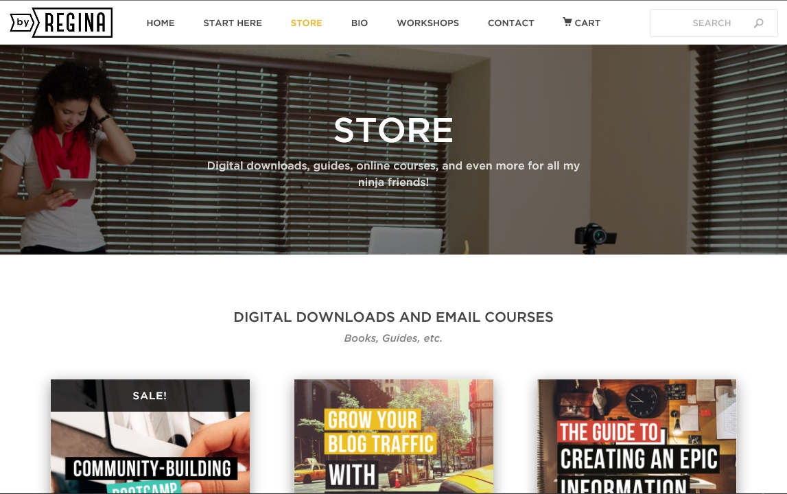 create a store on your blog