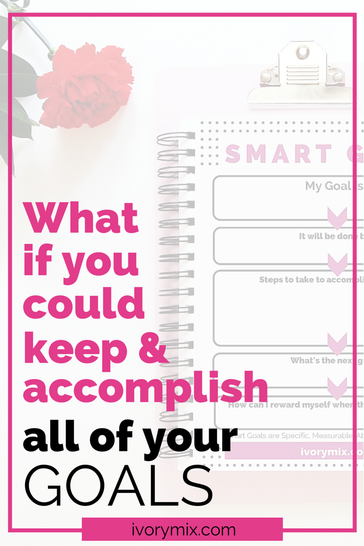 what if you could keep and accomplish all of your goals using smart goals