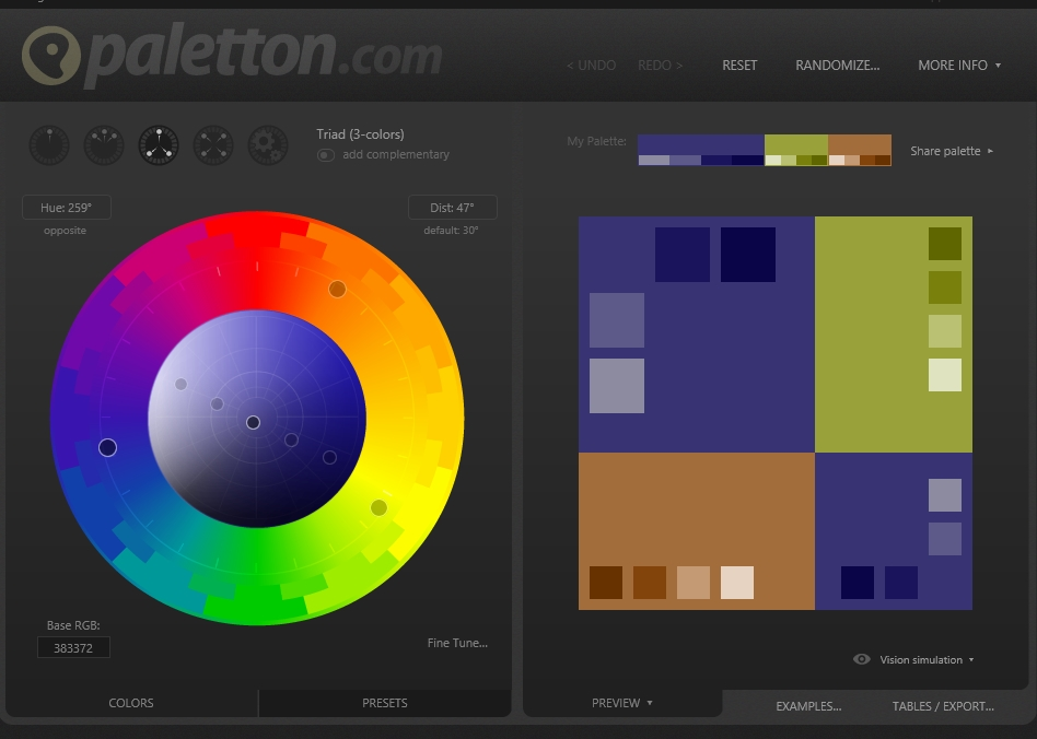 Paletton Color Mood Board