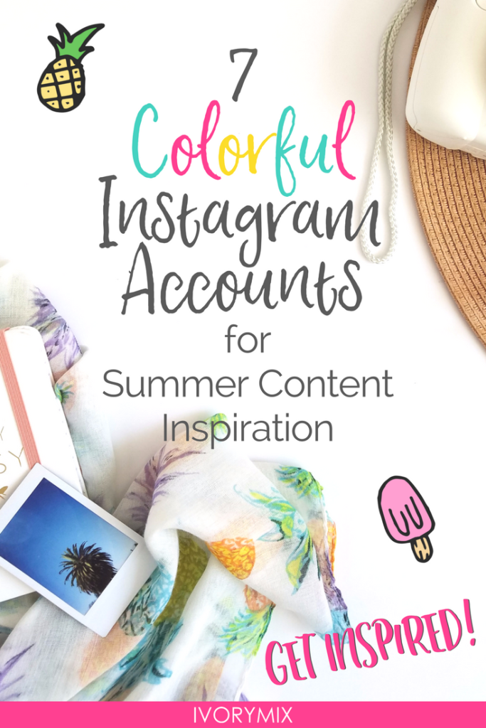 7 colorful Instagram Accounts for Summer content inspiration