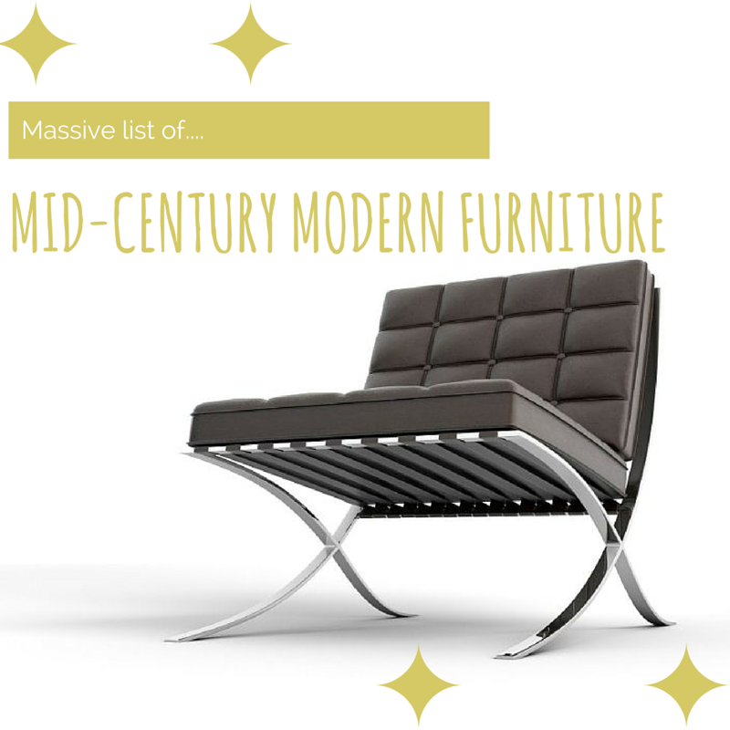 The Big List Of Mid Century Modern Furniture Ivorymix