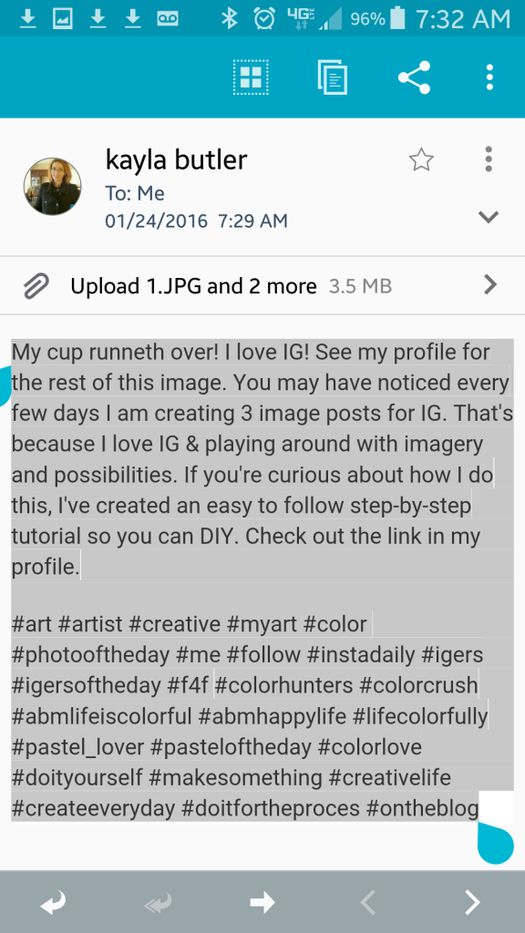 how to create text on instagram