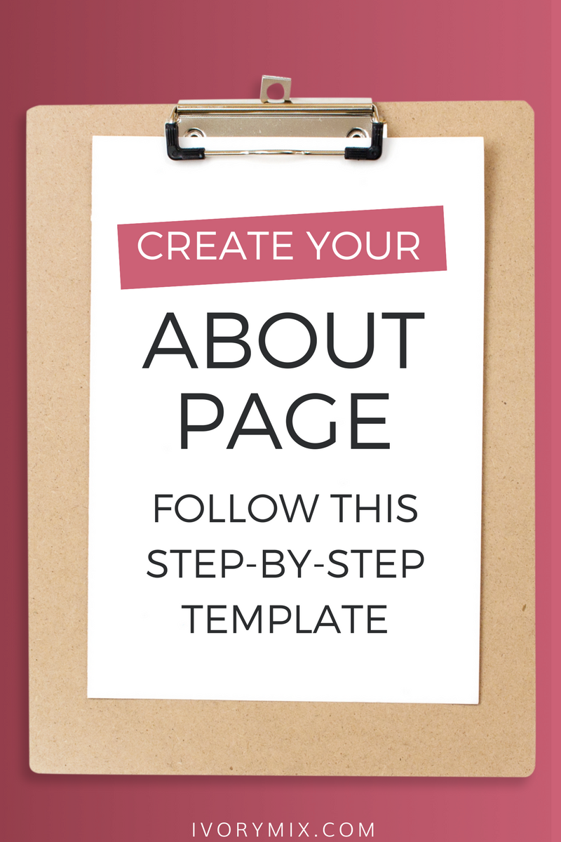 How to create your about me page on your blog
