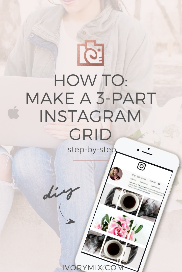 Create 3 part Instagram post a grid collage your can use for your layout to create more engagement and interest. This is just one way to create a Grid Layout you can use now to make your Instagram Theme.