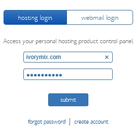 Start a blog - bluehost login