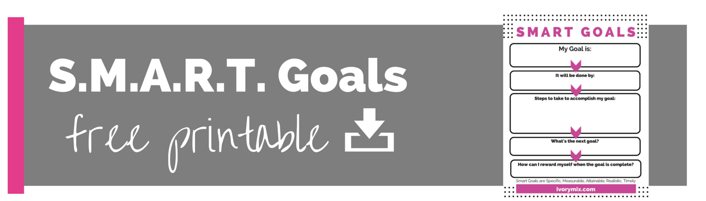 smart goals free printable