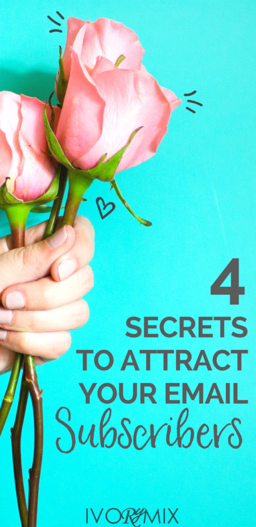 the 4 secrets to attract email list subscribers on your blog