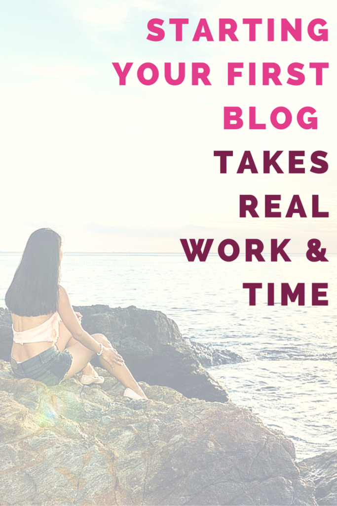 Starting a blog takes real work and time