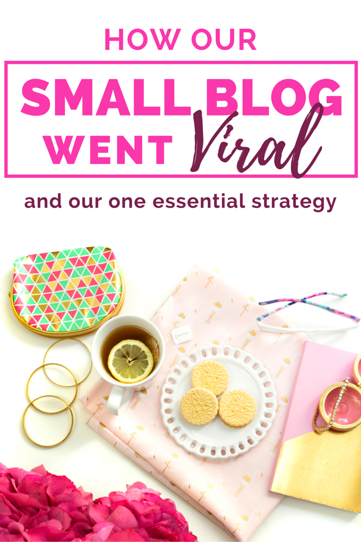 How our small blog went viral and what our one essential strategy was.