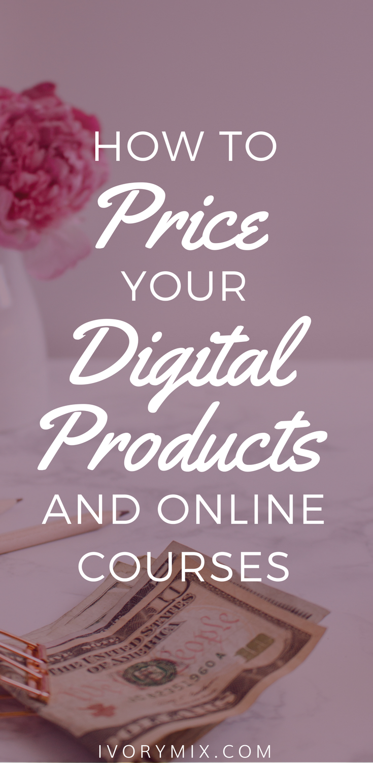 How to price your digital products ebooks and online courses