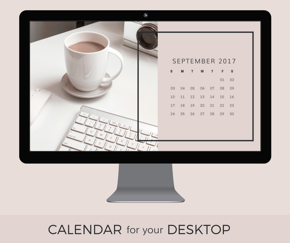September 2017 desktop calendar wallpaper download