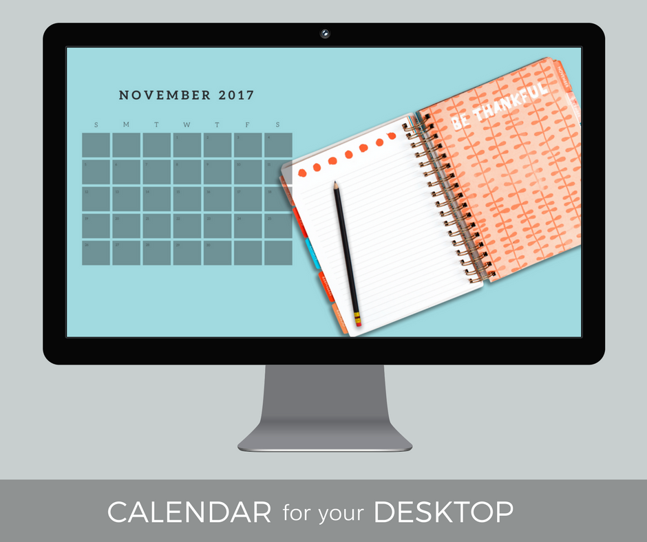 November 2017 Desktop Calendar Wallpaper
