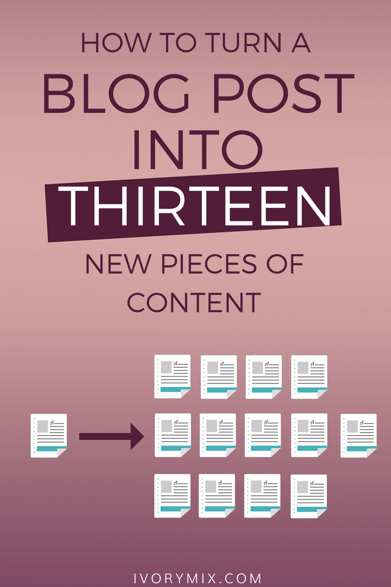Make the most from your content and turn one blog post into multiple things