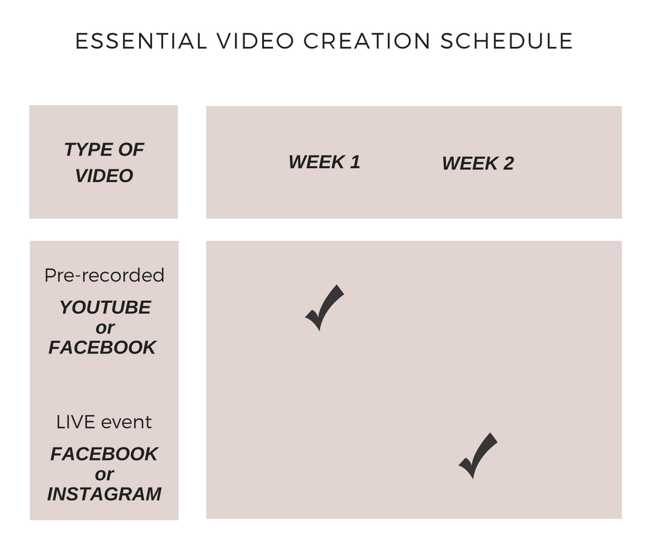 Social Media Content Marketing Plan for Video