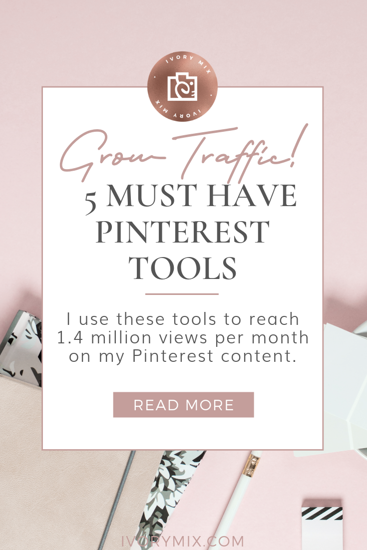 5 must have pinterest resources and tools for your pinterest growth || This is a list of the 5 tools I use that will show you how to get pinterest followers. These pinterest for bloggers tips will help you start using pinterest for business too. These aren't just pinterest tips for business marketing on pinterest but they also help you take better control of your pinterest analytics - Click to learn how to get more about getting pinterest followers for pinterest success