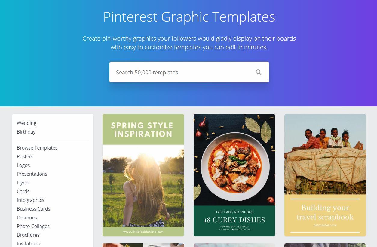Canva Pinterest Pin Designs