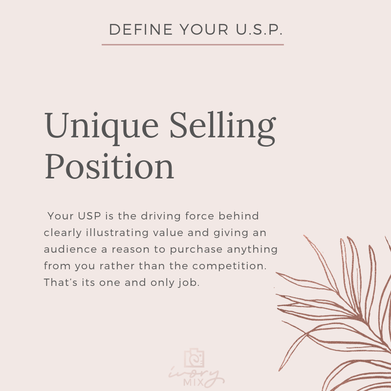 Complete guide to branding your blog and business - unique selling position USP - What unique value do you have?