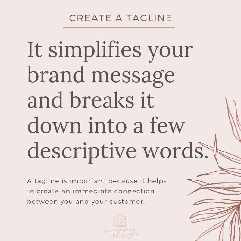 Create a brand for your blog - complete guide to branding - create a tagline