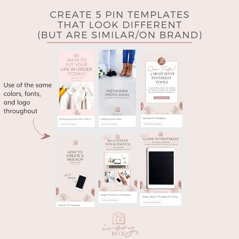 How to create 30 days of unique pins for pinterest from just 3 of your blog posts (5)