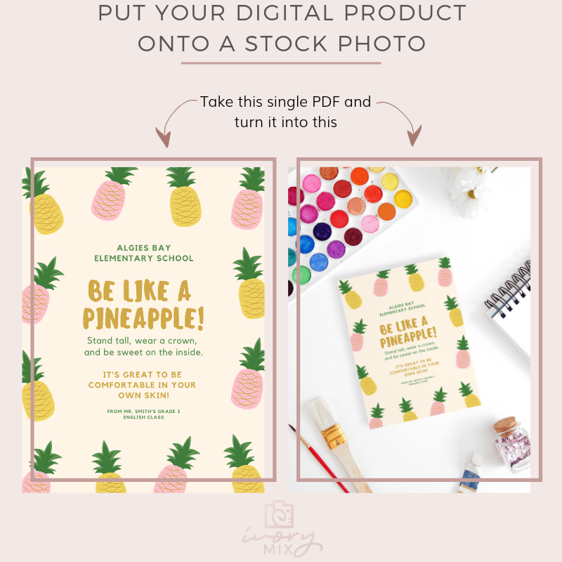 Put your digital product onto a stock photo