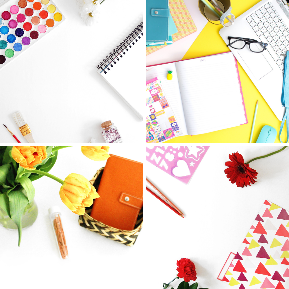 stock photos for colorful creative craft brands