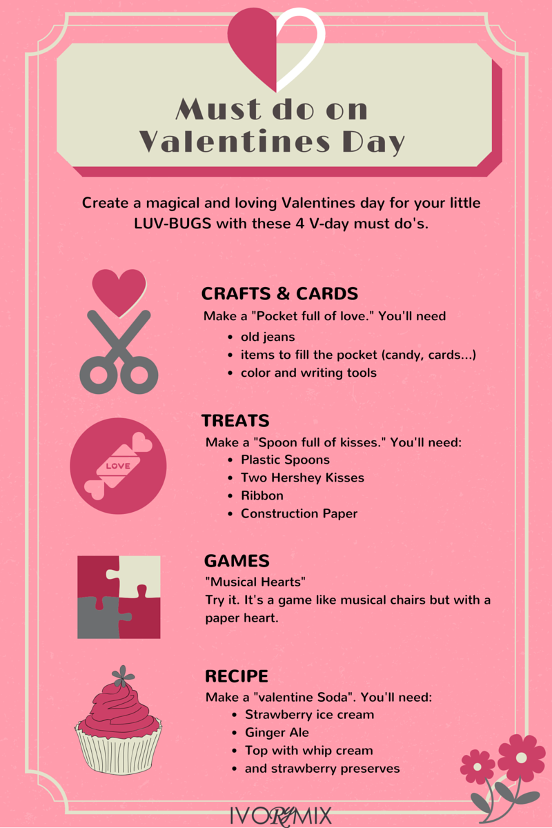 Vday must do's with your little luv-bugs