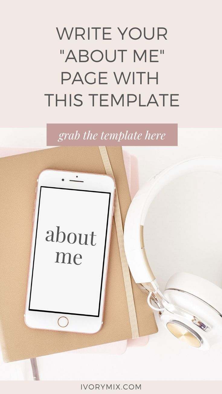 Simple about me page tips and template for your business website or blog