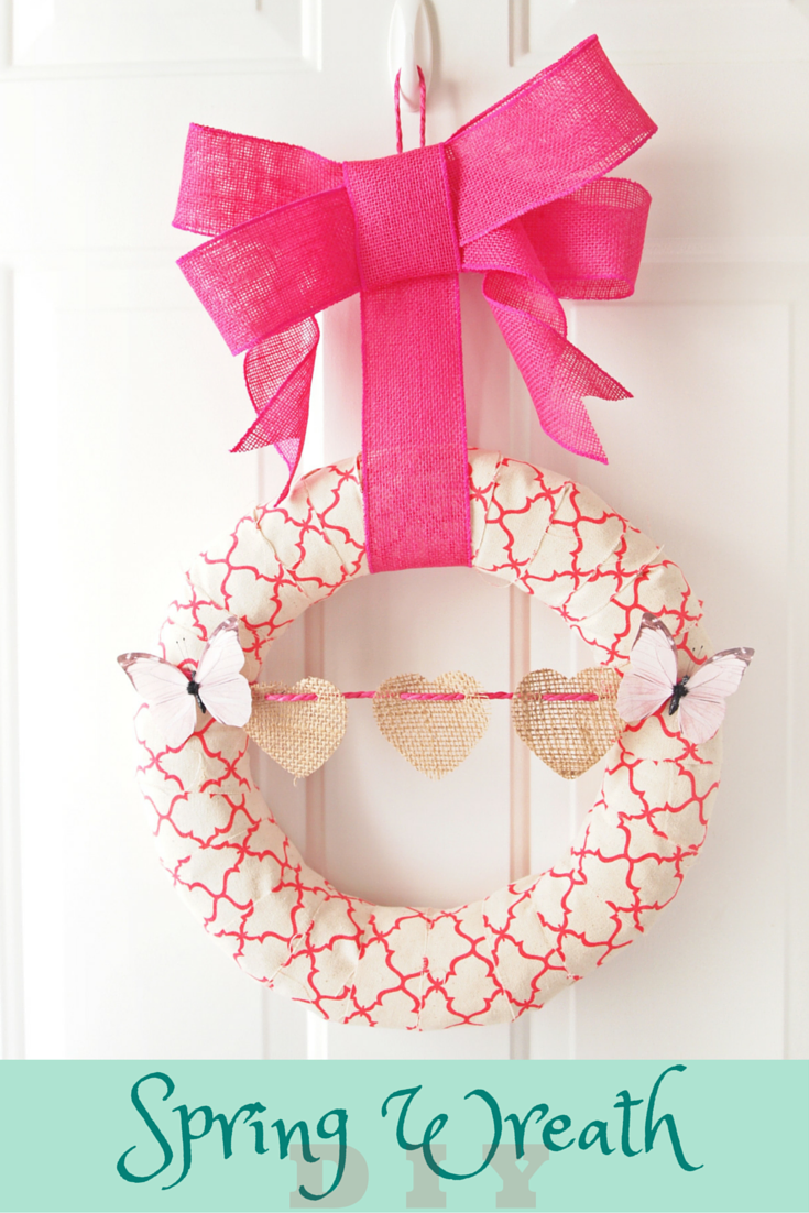 Spring Wreath DIY perfect for valentines day