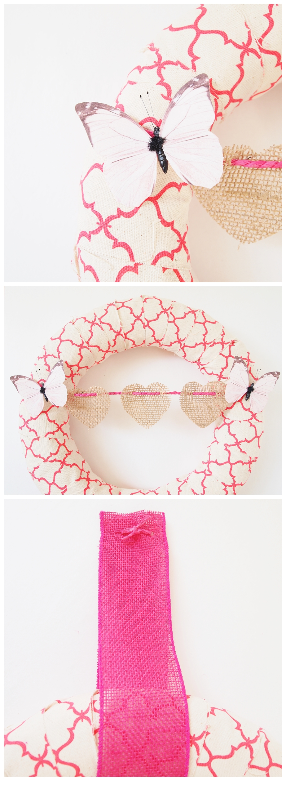 Spring Wreath perfect for valentines day