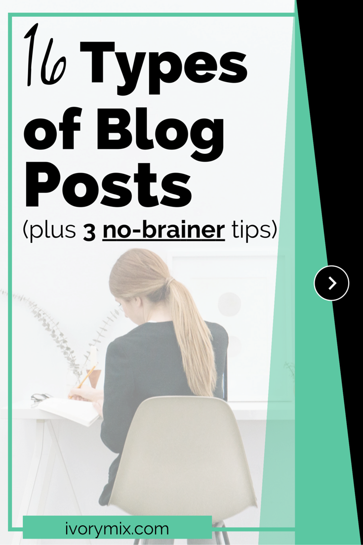 16 types of blog posts and 3 no-brainer tips for keeping your articles looking the same