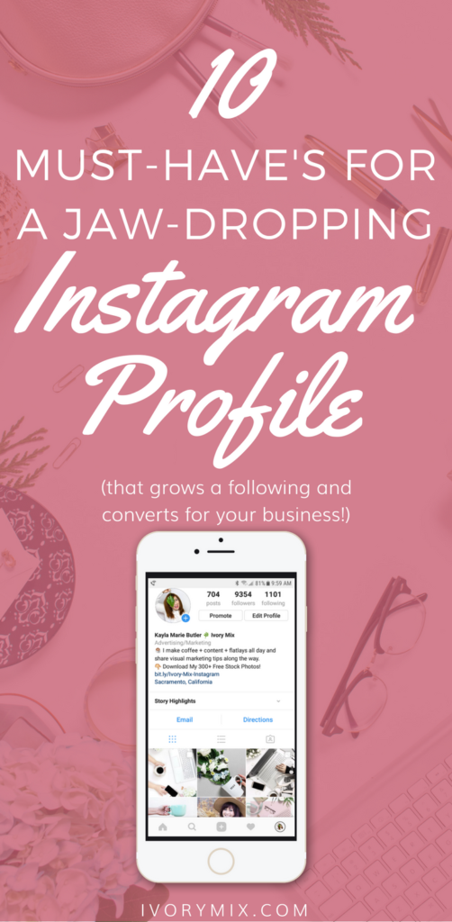 They key to gaining a following is to have a killer Instagram profile that converts. Today we are sharing a few tweaks you can make to your own for your business and blog