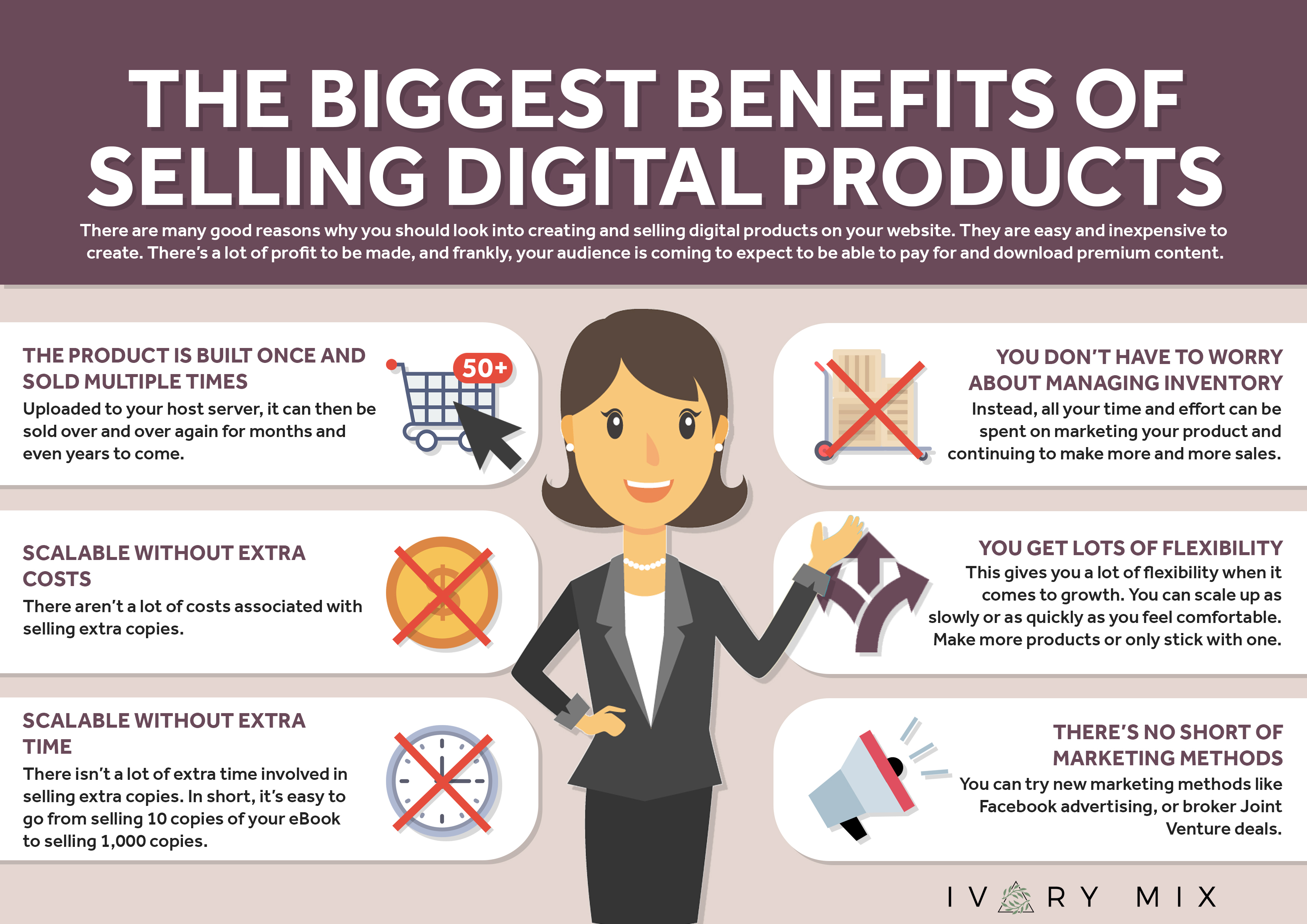 benefits of selling digital products on your blog