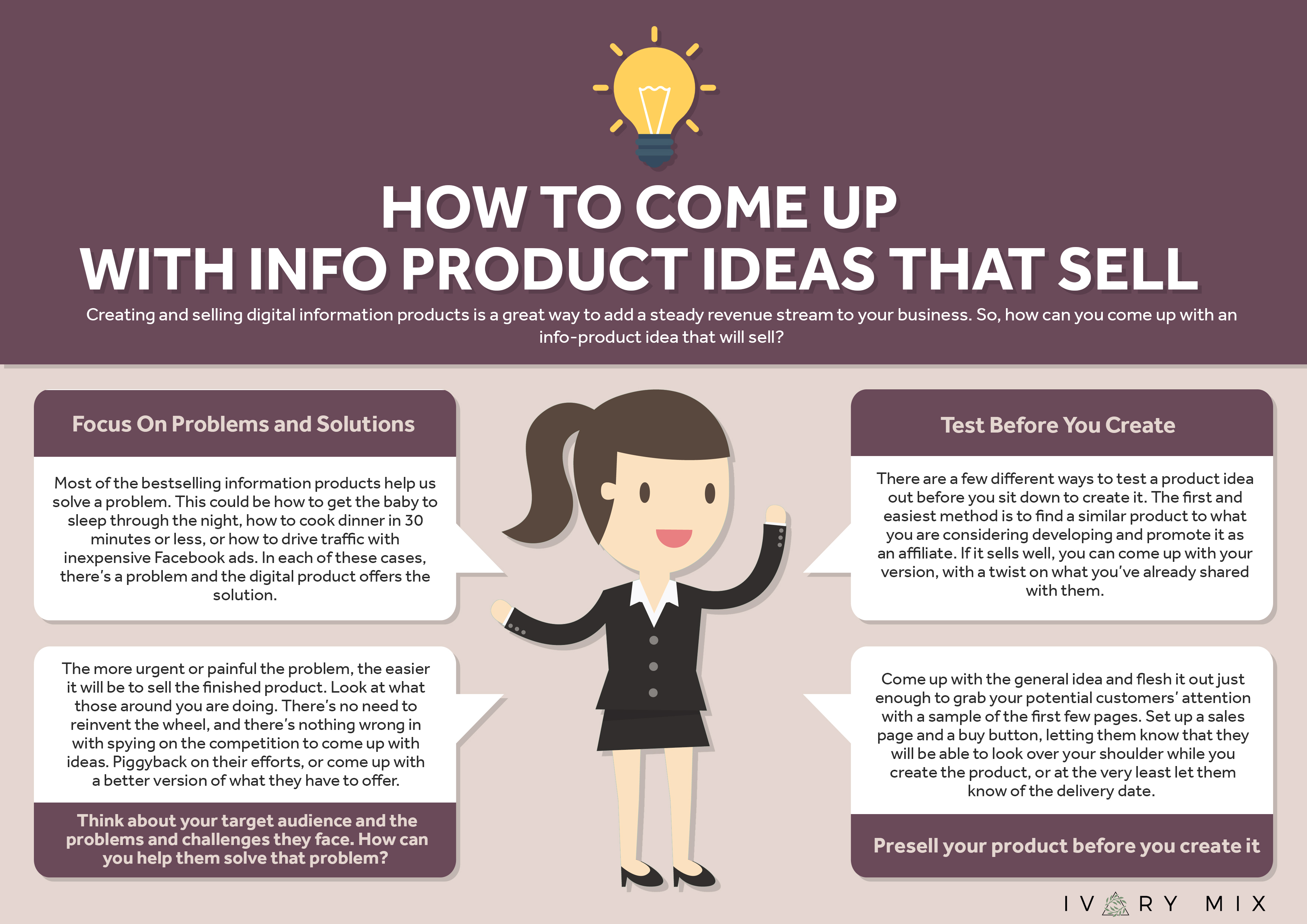 10 ideas for creating an info product that sells for Ideas for products to make and sell