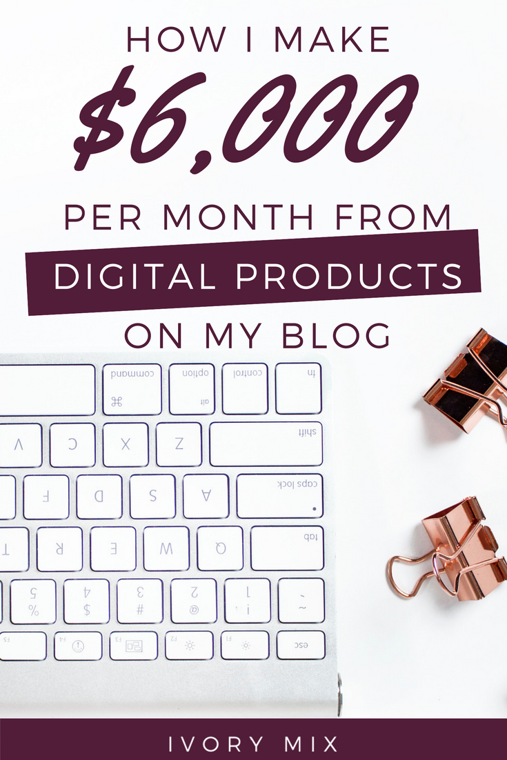 How I Make Full Time Blog Income Selling Digital Products