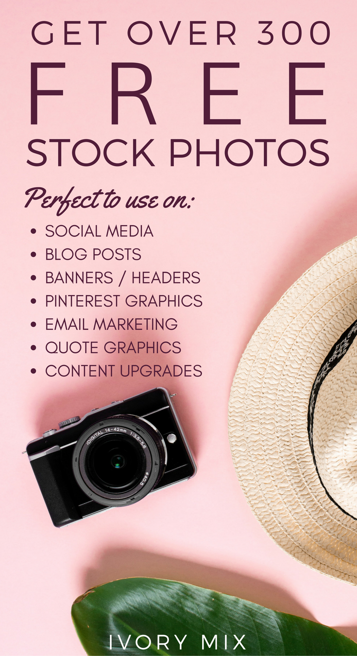 300 free stock photos for your blog, instagram content and more