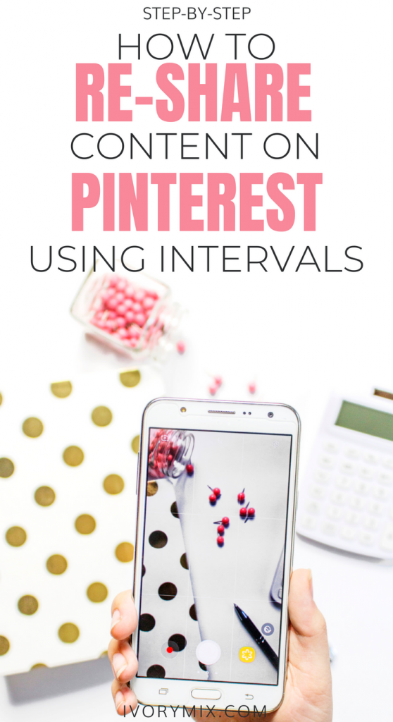 re-share content on pinterest using Tailwind Intervals