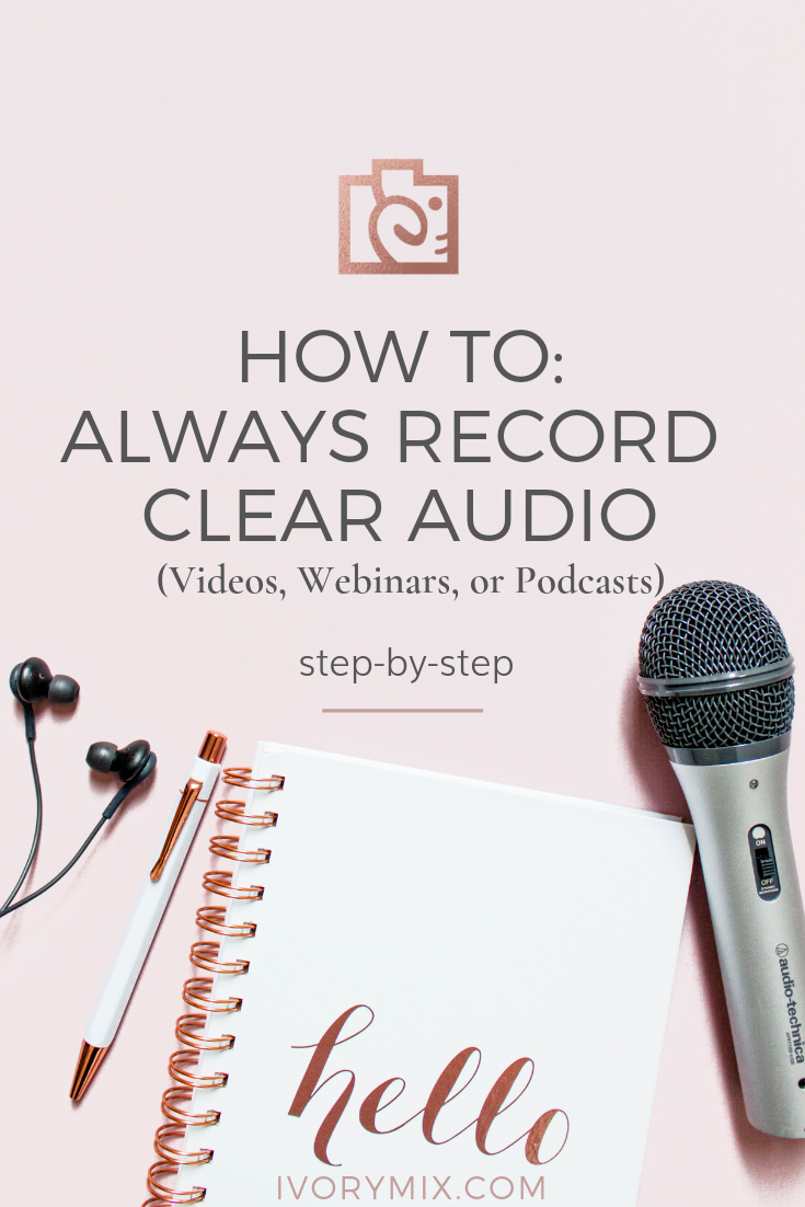 How to record clear audio for videos, podcasts, or webinars || This blog post provides exact details for the type of recording microphone set up you need for a home studio. You'll be able to hook it right up to your computer and record clear audio.
