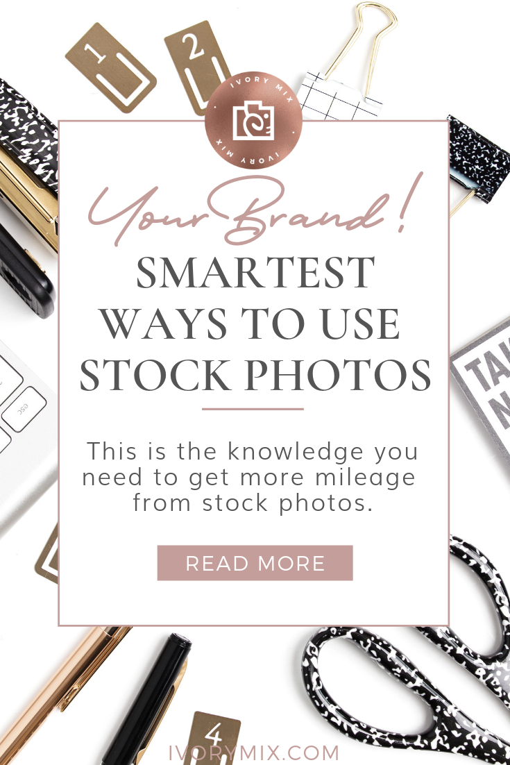 Smartest ways to use stock photos for your brand || Grab the tools and resources for pairing photos with your brand and different types of color palettes. These tips are unexpected and will totally open up your branding world!
