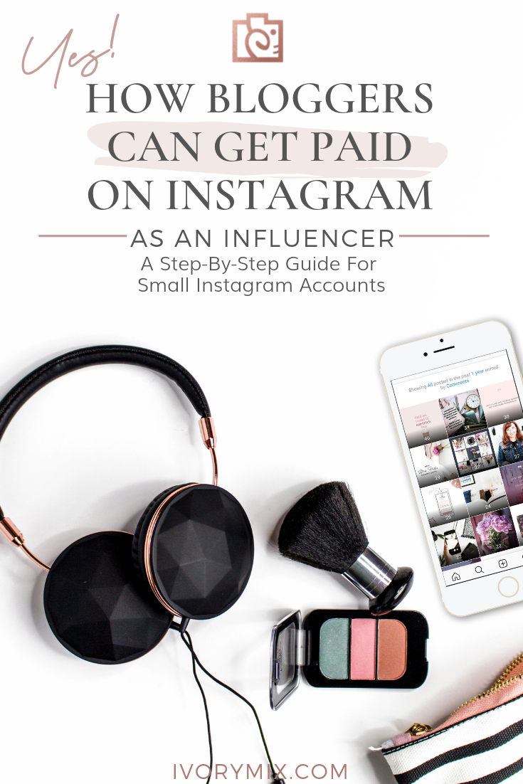 How bloggers can get paid on Instagram || Click here to find out how || You don't have to have 100,000 instagram followers to be considered an influencer on Instagram. It might be surprising to find out that you can have 1000 Instagram followers and be a desirable micro-influencer to brands who want to pay you for content.