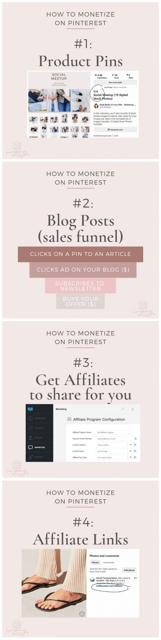 how you can make money on pinterest 4 different ways (one way can be without a blog too)