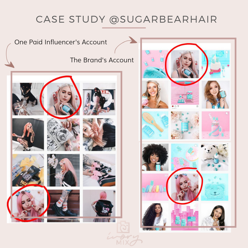 influencers sugarbearhair on instagram