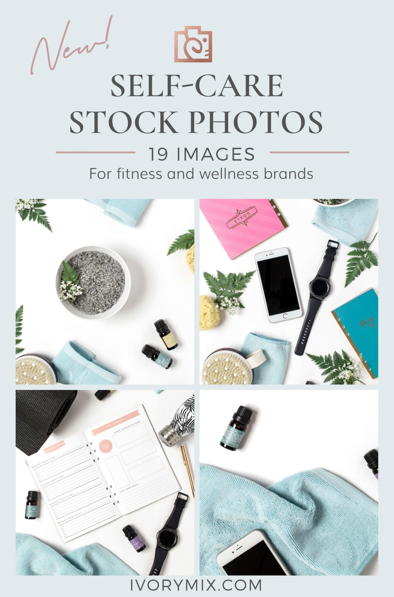 Wellness health and Fitness brand styled stock photos
