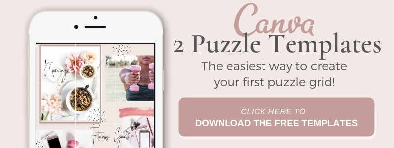 Download 2 free puzzle grid canva templates for instagram theme