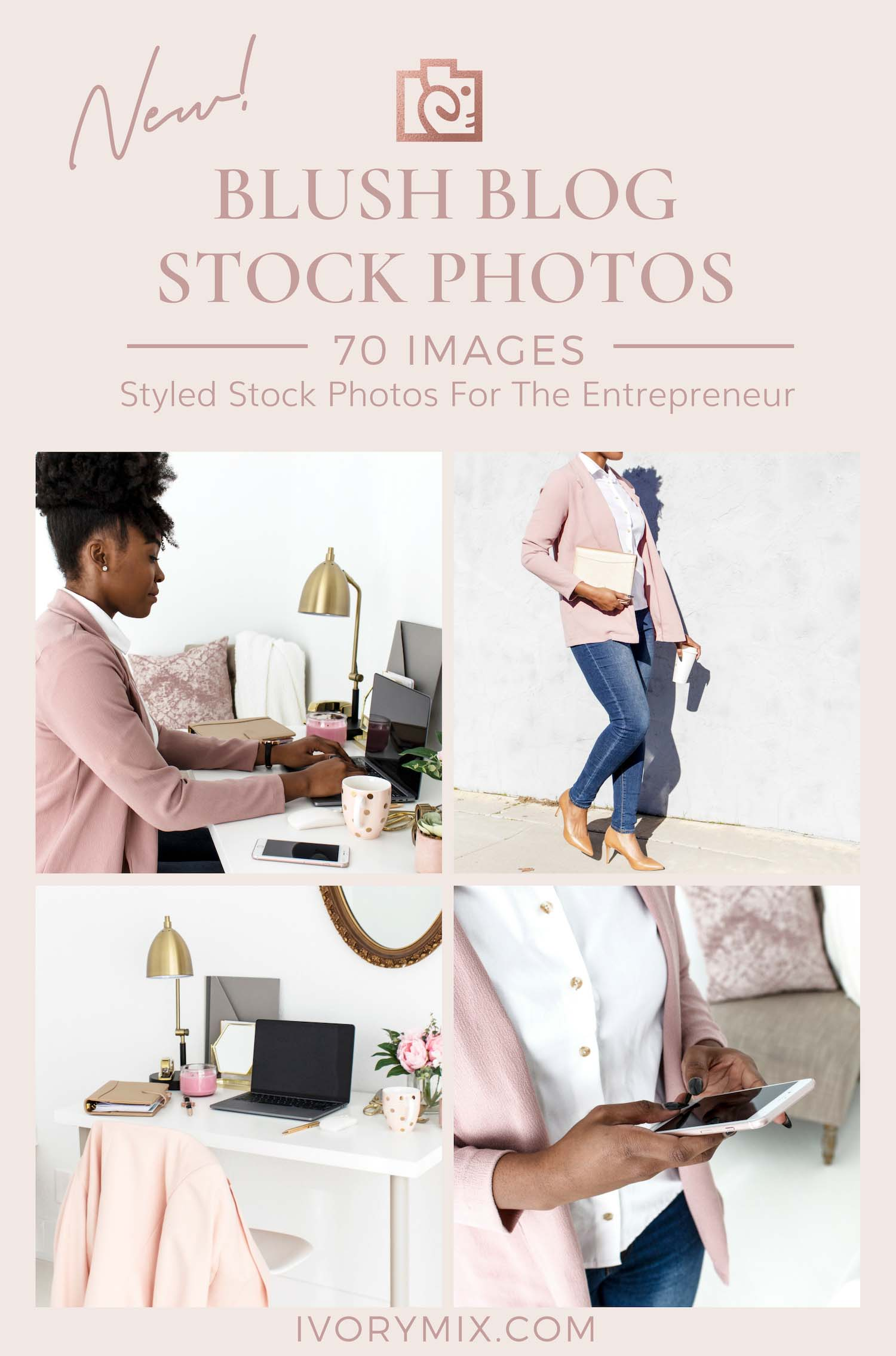 Blush Business stock photos from ivory mix