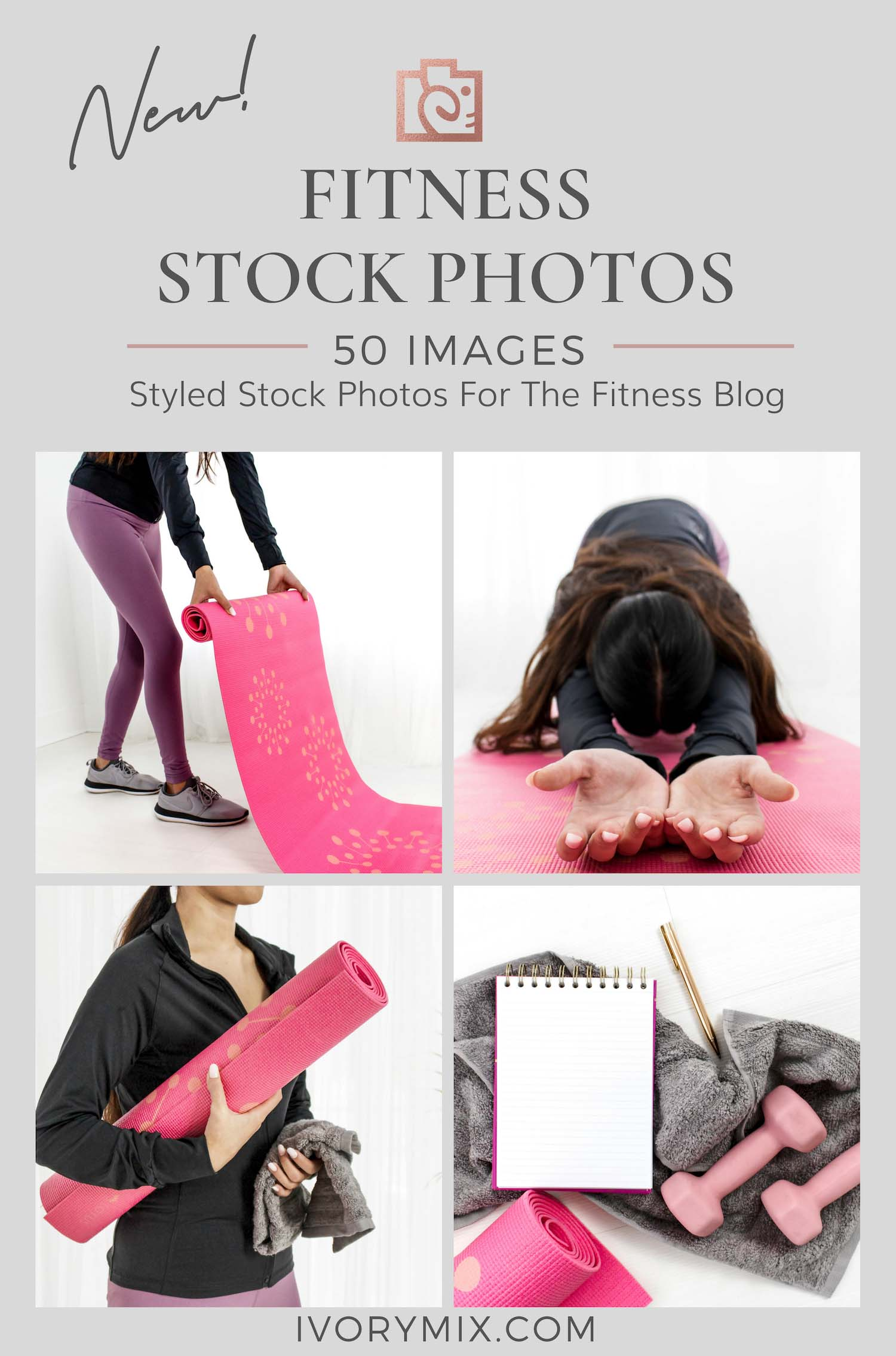 Fitness yoga stock photos from Ivory Mix