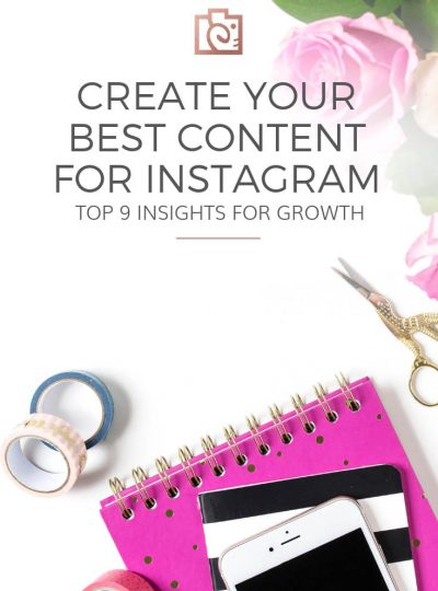 Post only the BEST Instagram content using your top 9 insights to help you in planning and growing on Instagram. There's a video tutorial and a free worksheet to help you create new ideas for photos, captions, hashtags, and more.